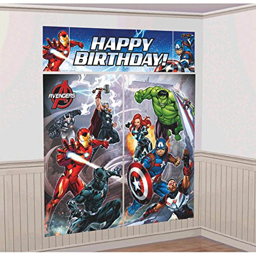 Amscan Marvel Epic Avengers Scene Setters Wall Decorating Kit