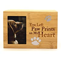 ENBOVE Pet Urns,Photo Frame Funeral Cremation Urns,Ash Urns for Dogs, Small Animal Urn,Burly…