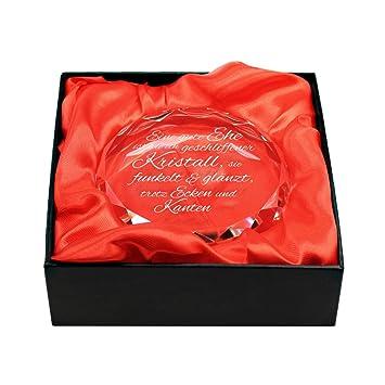 Gravado Kristall Aus Glas Mit Gravur Zur Hochzeit Spruch Gute Ehe