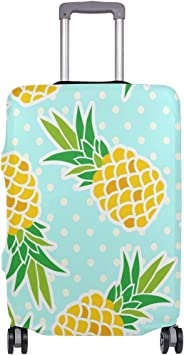 FOLPPLY Pineapple Pattern Luggage Cover Baggage Suitcase Travel Protector Fit for 18-32 Inch
