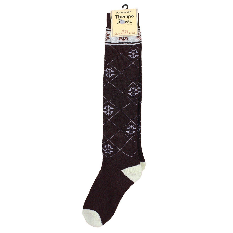 Atmungsaktive, weiche, wärmende kawako Thermo Kniestrümpfe / Ski-Socken / Wintersocken 60921D