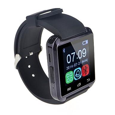 c4390f743 U8 Bluetooth Smart Wrist Watch Phone Mate for Android Samsung HTC LG (Black)