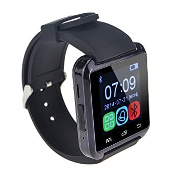 U8 Bluetooth Smart Wrist Watch Phone Mate for Android Samsung HTC LG (Black) by ZY