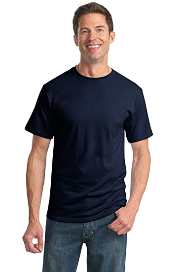 966cd03b505 JERZEES-Heavyweight Blend 50 50 Cotton Poly T-Shirt (True Navy ...