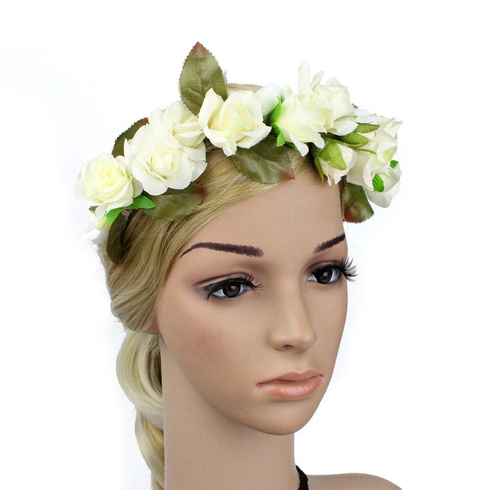Sztara Party Girls Women Flower Crown Hairband Natural Floral