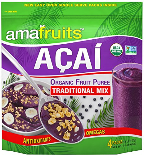 Amafruits Acai Traditional Mix with Guarana - 144 Smoothie Packs by Amafruits (Image #5)