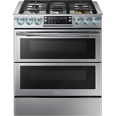 Samsung Appliance NX58K9850SS 30u0026quot; Slide In Gas Range With Sealed  Burner Cooktop, 5.8