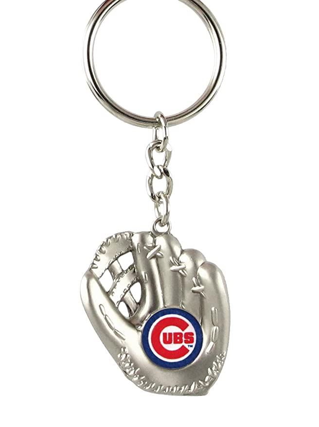aminco Chicago Cubs - MLB Silver Baseball Glove Keychain