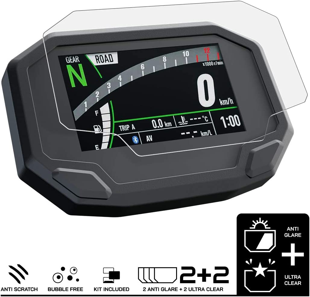 Speedo Angels Dashboard Screen Protector for NINJA 1000SX 2 x Ultra Clear /& 2 x Anti Glare 2020-