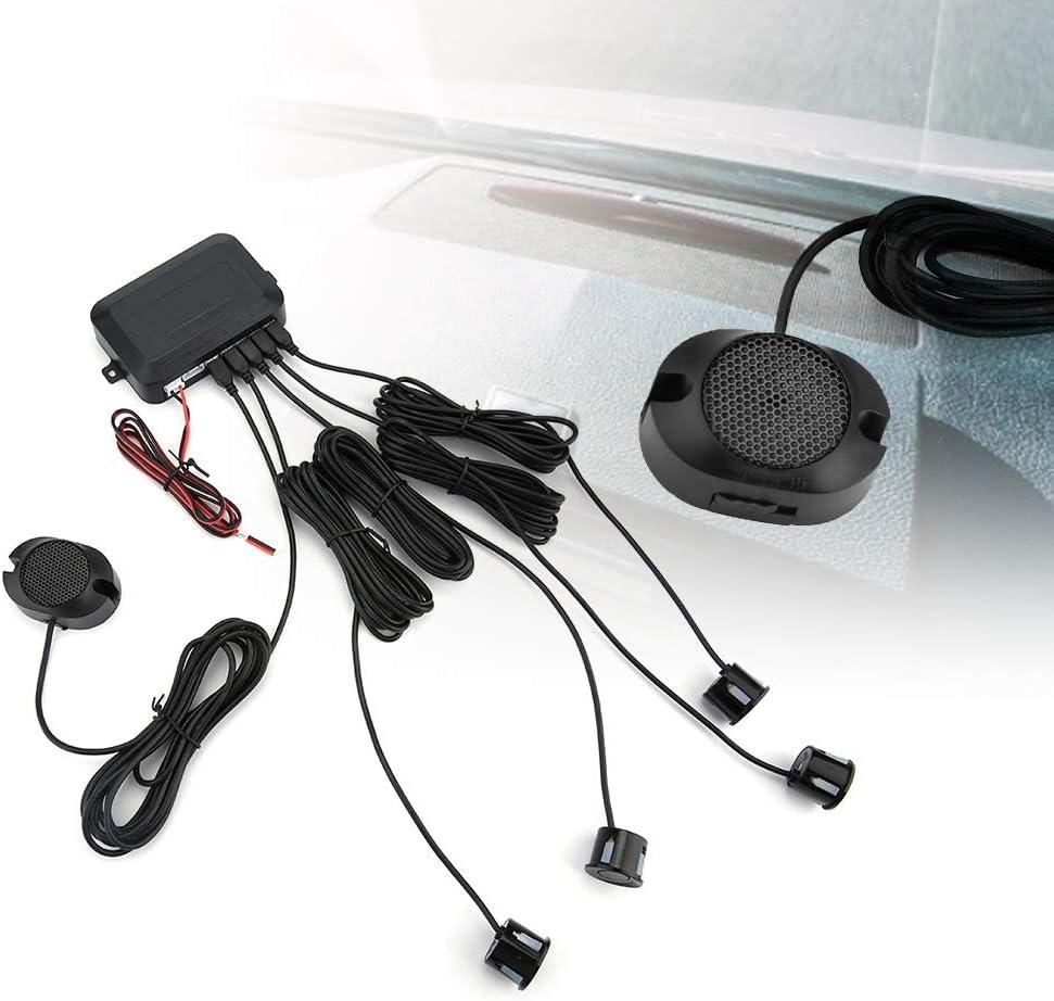 Car Parking Sensor Rear Parking Assist Car Reverse Backup Radar Kit Warning Sound Indicator Probe System 12V