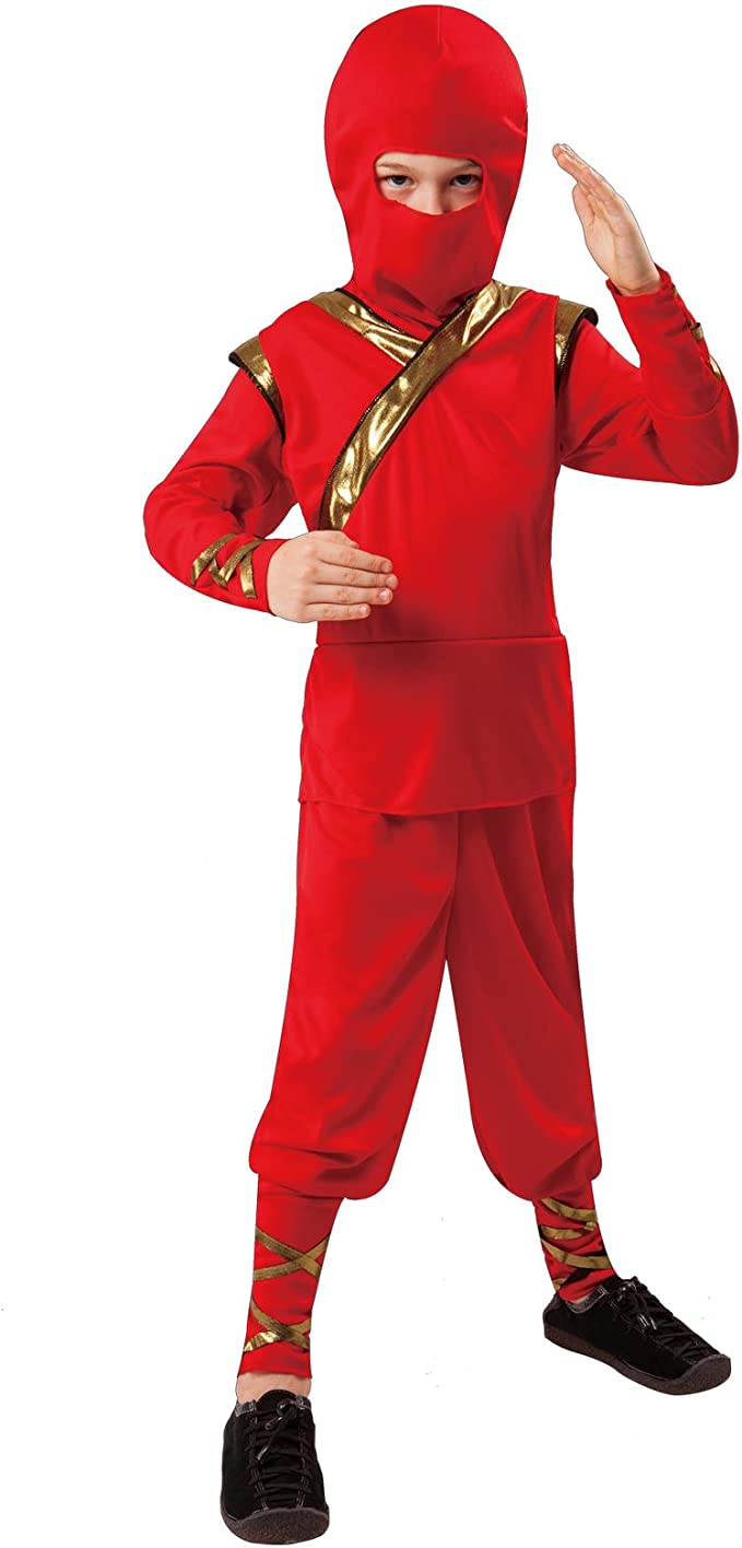 Totally Ghoul Boys Child Classic Red Ninja Costume