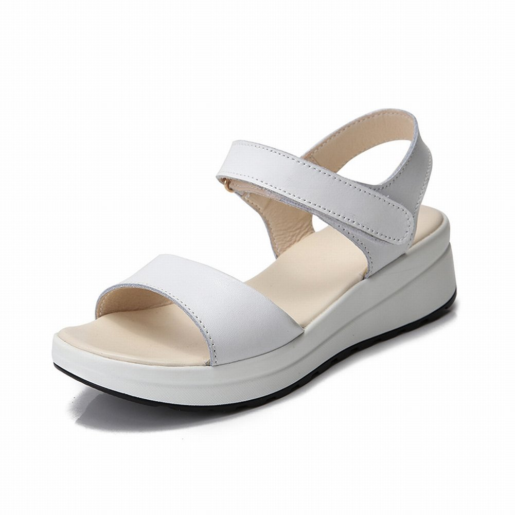 YTTY Fashion Velcro Sandalen Komfort All-Match-Schuhe Rutschfeste Tragen Sandalen  35|Wei?