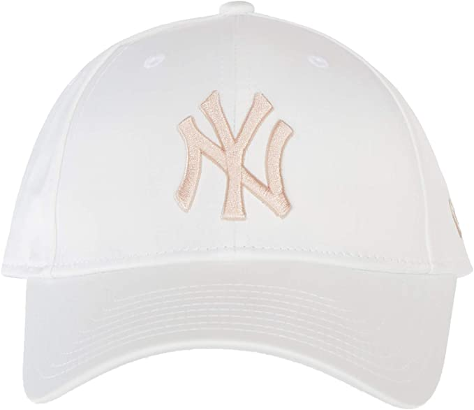 A NEW ERA Gorra béisbol Mujer 9FORTY satén MLB York Yankees Blanco ...