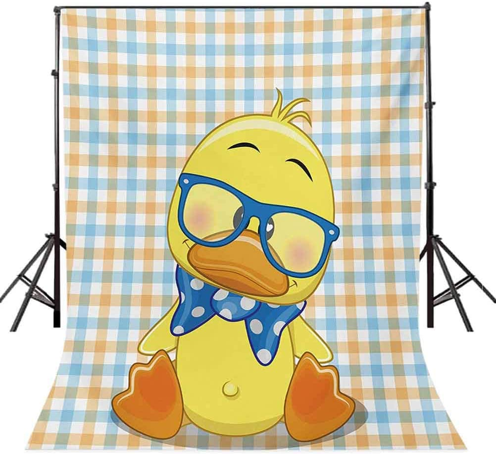 10x15 FT Backdrop Photographers,Hipster Boho Baby Duck Dotted Bow Cool Free Spirit Smart Geese Artsy Design Background for Kid Baby Boy Girl Artistic Portrait Photo Shoot Studio Props Video Drape