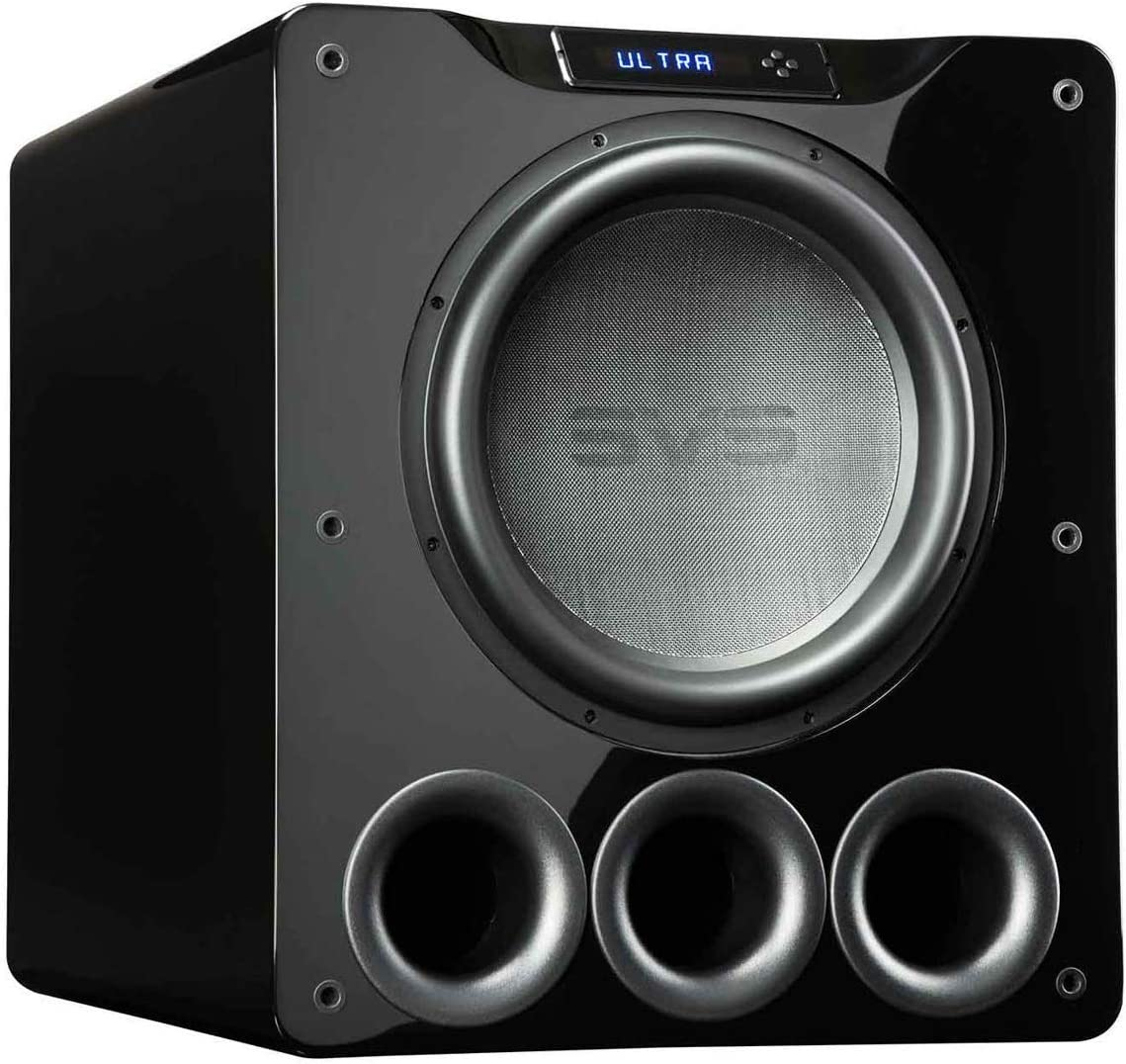SVS PB16-Ultra 1500 Watt 16 Ported Cabinet Subwoofer Piano Gloss Black