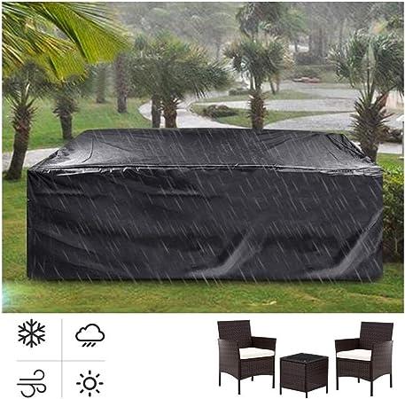 AGLZWY Funda Muebles Jardin Impermeable Poliéster Oxford Resistencia Al Desgarro para Al Aire Libre Mesa y Silla, 14 Tamaños (Color : Negro, Size : 123x123x74): Amazon.es: Hogar
