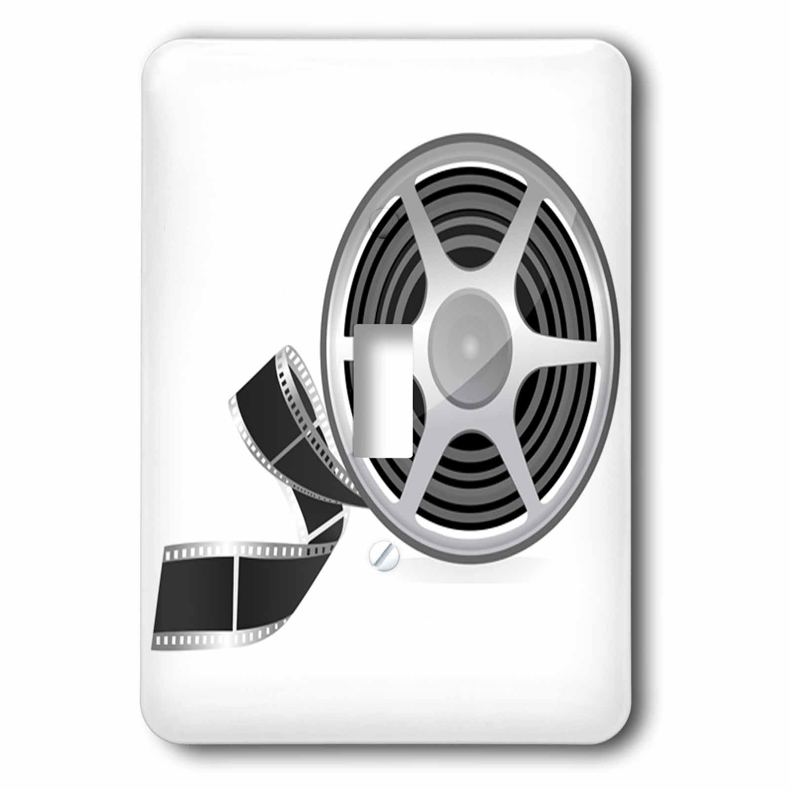 Anne Marie Baugh - Movies - A Movie Reel With A Strip Of Movie Film Illustration - Light Switch Covers - single toggle switch (lsp_235769_1)