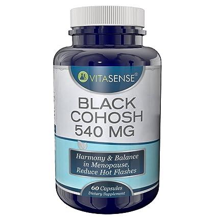 VitaSense - Cohosh Negro 540 mg - Armonía y Equilibrio en la Menopausia, Reduce sofocos