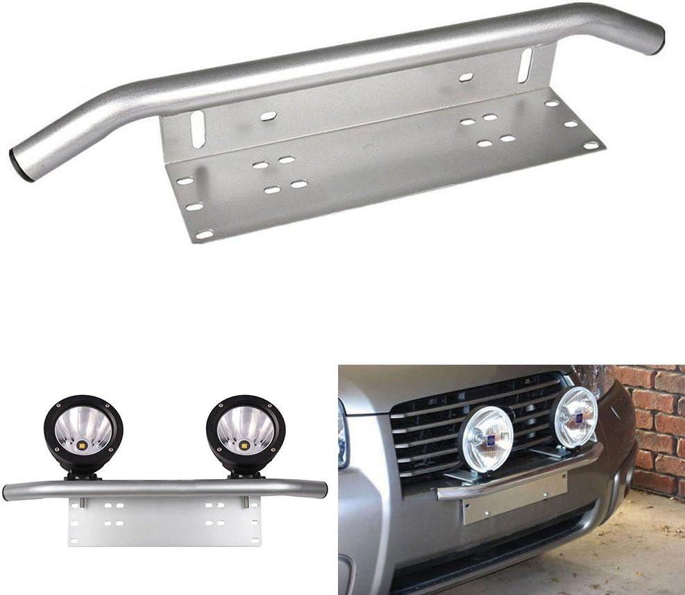 triclicks cromo universal Parachoques kennzeichenhalterung para matrícula lámpara de trabajo Soporte para Auto, affroad, SUV, Pickup, camiones