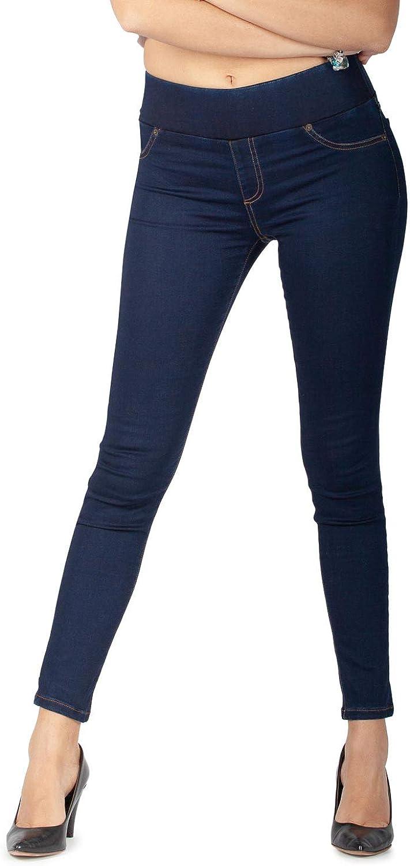 Massima comodit/à Jeans da Donna Skinny Elasticizzati MAMAJEANS Lima Made in Italy Jeggings Vita Alta Relax e Stile
