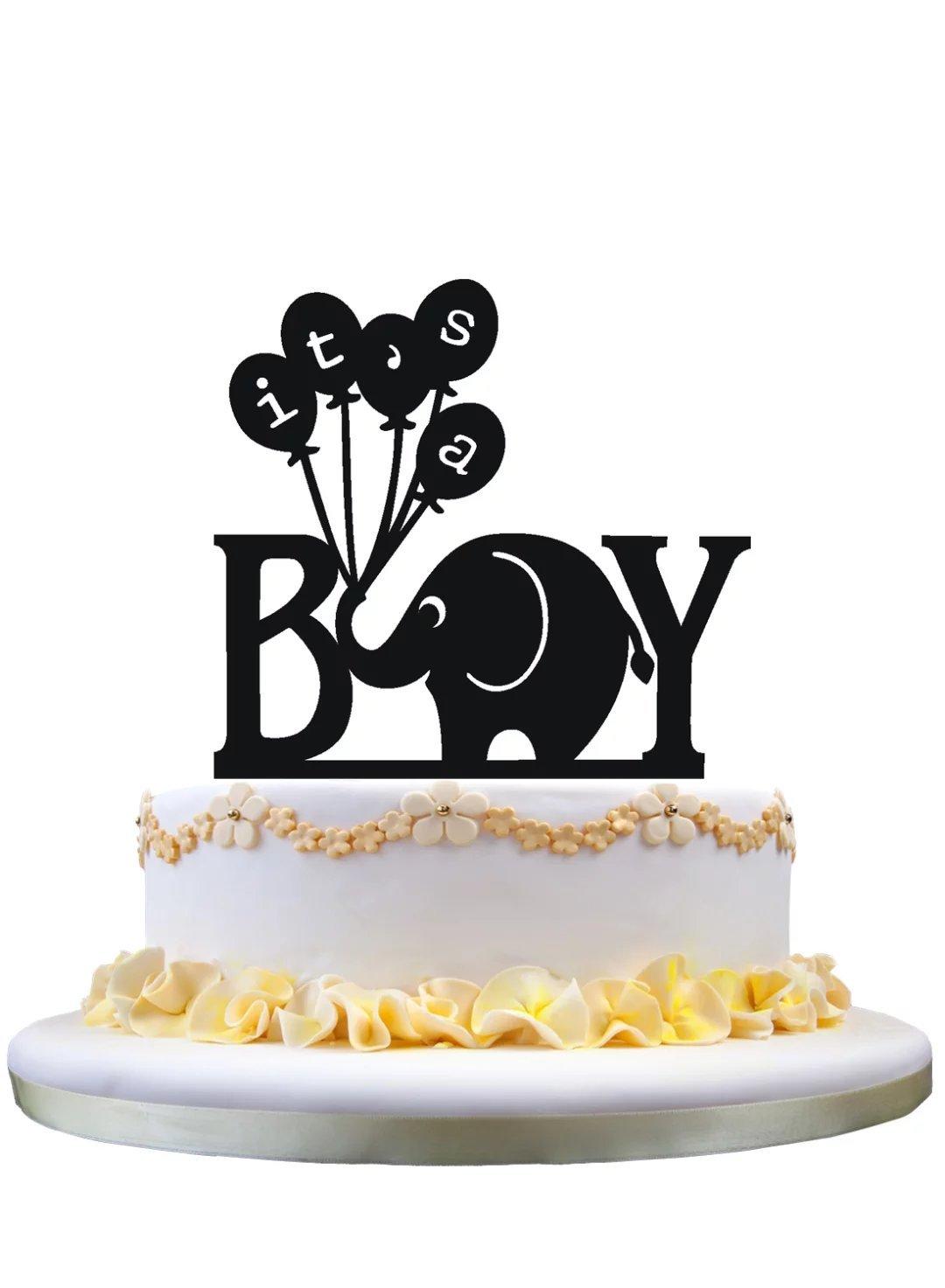 Pleasant Birthday Cake Topper Monogram Cake Tiopper Its A Boy Cake Topper Birthday Cards Printable Opercafe Filternl