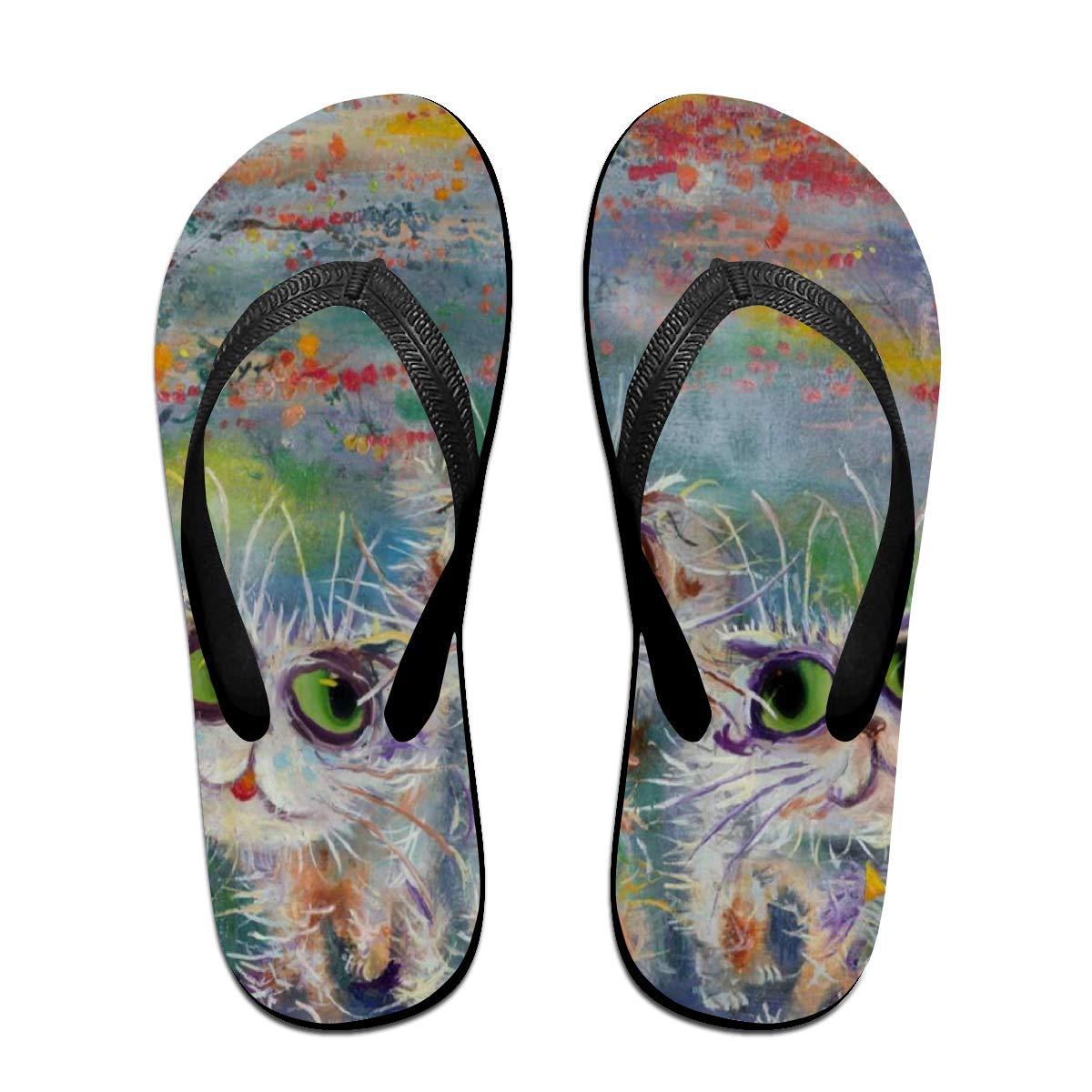 Flip Flops Artwork Painting Womens Indoor Slippers Top Sandals for Woman
