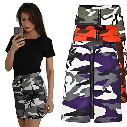 dbac69749c3 Amazon.com  Alonea Women Camouflage Skirts