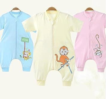Jingdian fzw Bebé Saco de Dormir Primavera y el otoño de Color algodón bebé piernas separadas Saco de Dormir de algodón Verano Anti-Patada edredón (Color ...