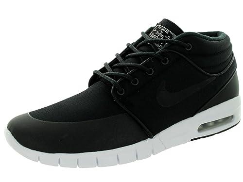 outlet store 140ca fdc3f Nike Stefan Janoski Max Mid, Scarpe da Skateboard Uomo, Bianco Nero-Argento  Mtllc