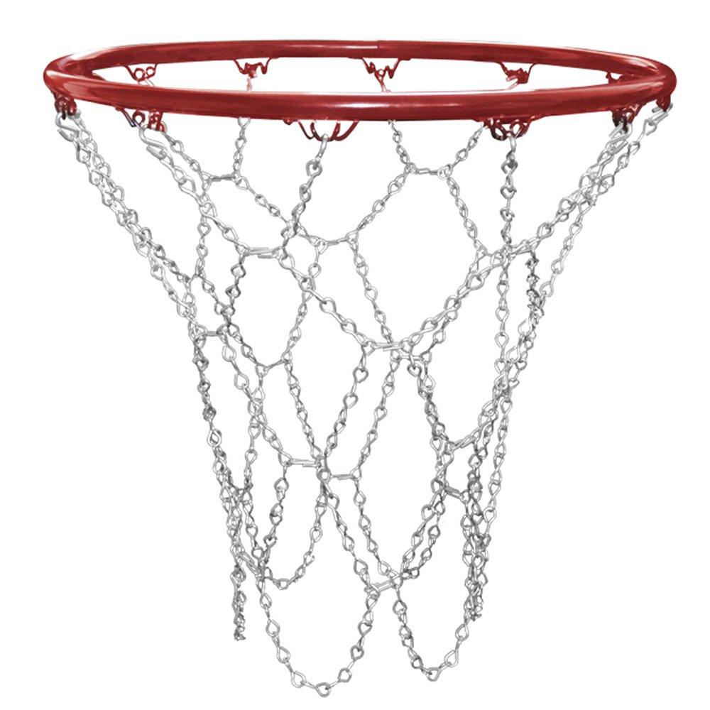 Standardgr/ö/ße Ersatz Trixes Basketballnetz in Silber mit S-Haken Hochbelastbares und langlebiges Metall-Pro