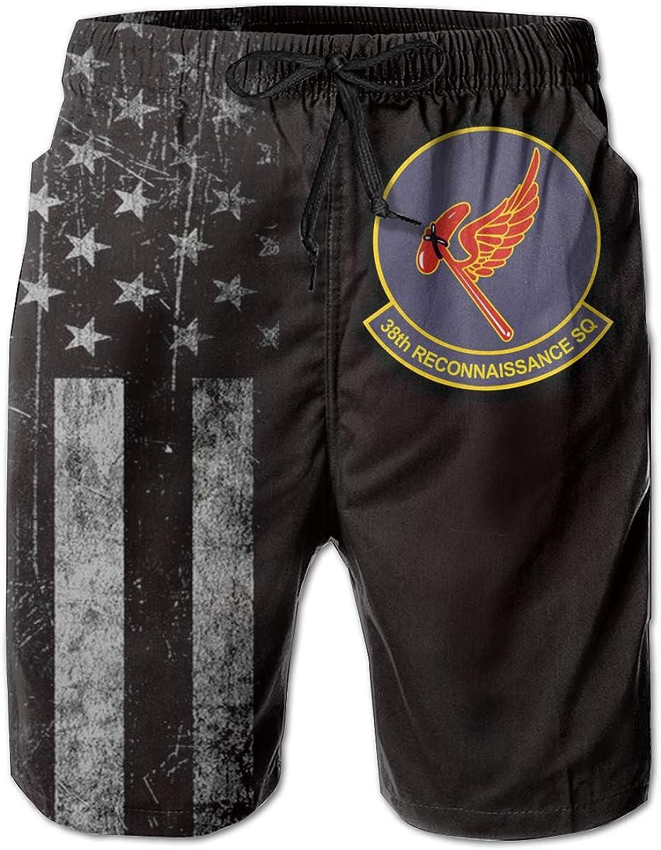 HANINPZ 38th Reconnaissance Squadron Mens Swim Trunks Beach Short Board Shorts