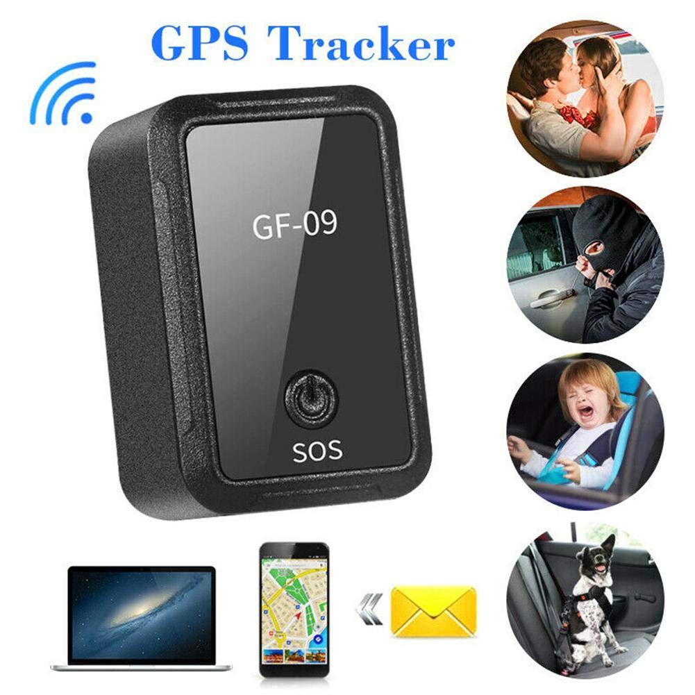 juman634 Rastreador de veh/ículos GF-09 Mini Dispositivo de rastreo de GPS Control de APLICACI/ÓN Antirrobo Dispositivo localizador Grabadora de Voz magn/ética para Motocicletas autom/áticas Scooter