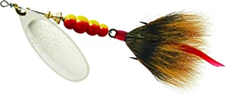 product image for Mepps Aglia Dressed Treble Fishing Lure, 1/2-Ounce, Silver/Brown Tail
