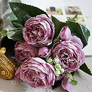 Heads Orchid Beautiful Rose Peony Artificial Silk Flowers Small Bouquet Flores Home Party Spring Wedding Mariage Fake Flower 2 31