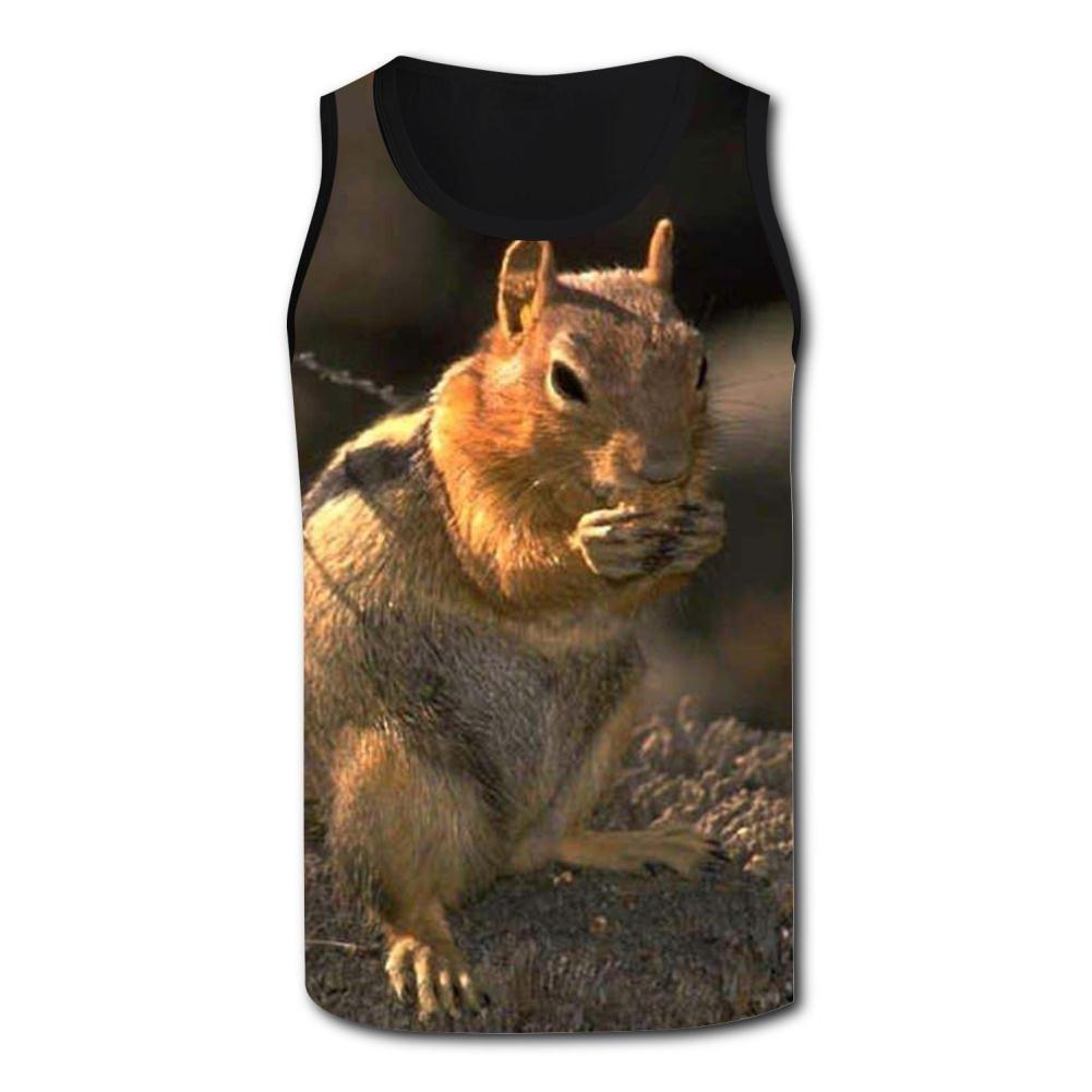 Gjghsj2 Pet Squirrel Tank Top Vest Shirts Singlet Tops Sleeveless Underwaist for Men Running