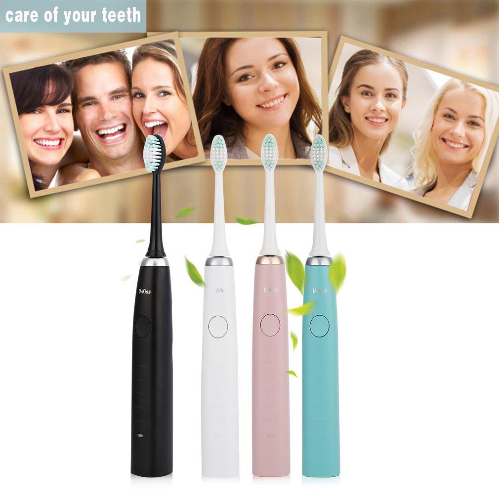 LESHP Brosse /à Dents Electrique Rechargeable Brossettes de Remplacement Rose