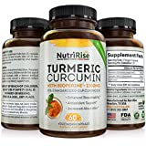 Turmeric Curcumin With Bioperine Black Pepper Extract For Optimum Pain Relief and Joint Support. 95% Standardized Curcuminoids For Best Absorption. Non-GMO Gluten Free Turmeric Capsules