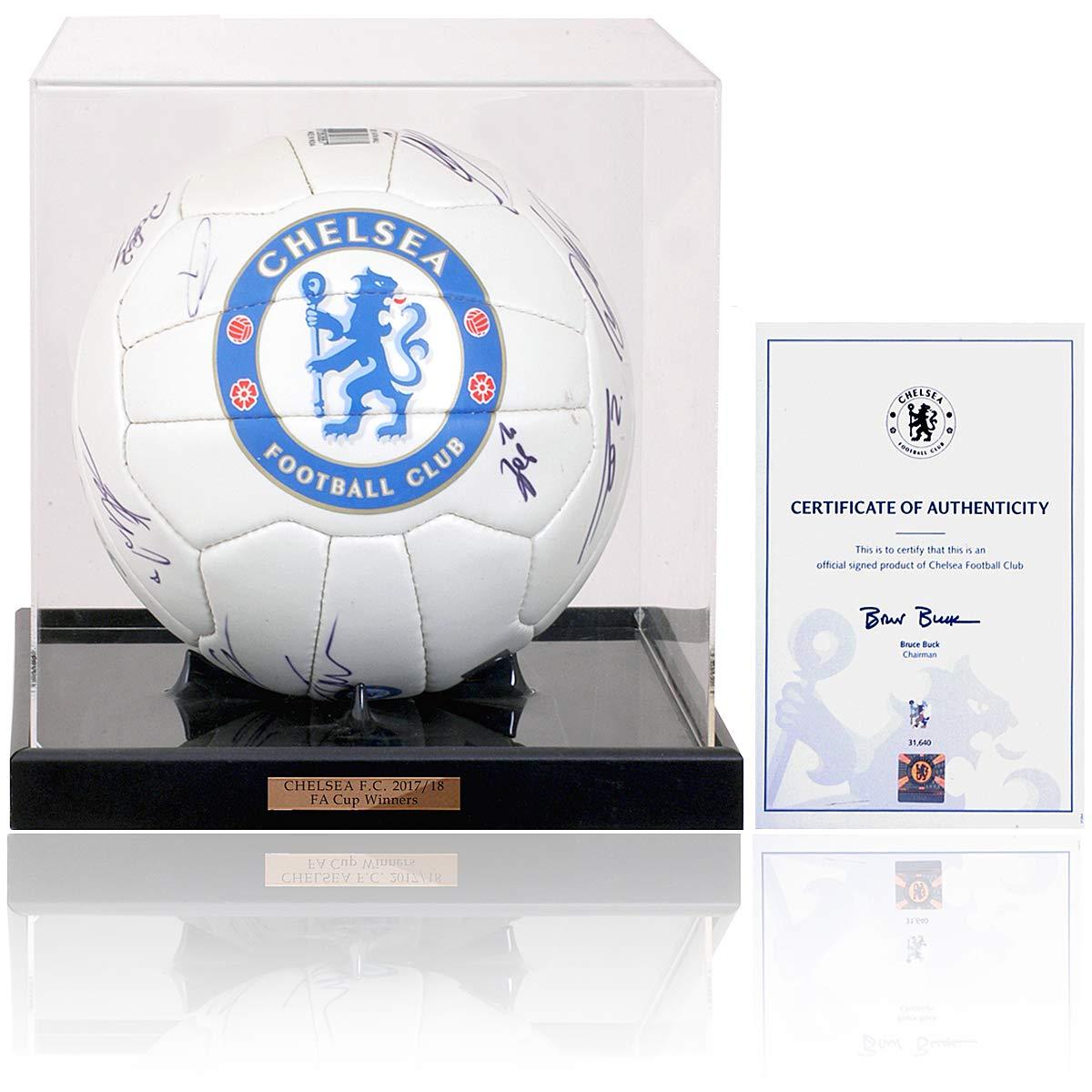 MBS BSM Chelsea F.C. Balón de fútbol Americano Firmado a Mano para ...