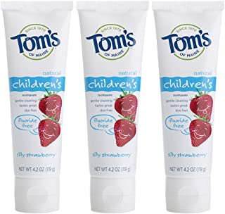 product image for Tom's of Maine Natural Children's Fluoride-Free Toothpaste, Silly Strawberry, 4.7 oz. 3-Pack