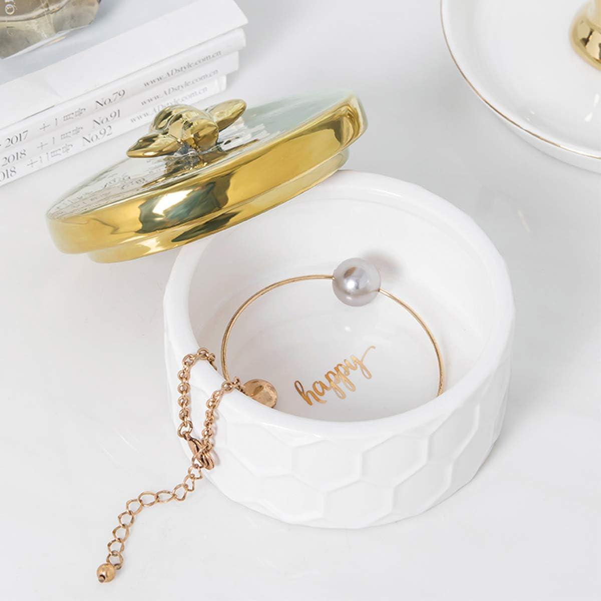 Gift for Her Flamingo Trinket Dish Rings Earrings Bracelets Tray Organizer
