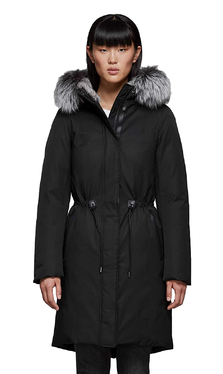 81eb94a9bca Amazon.com: MACKAGE ENIA-X Women's Down Winter Premium Parka BLACK ...