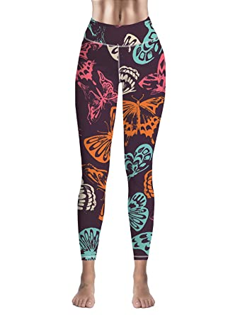 6121561d4f7832 Amazon.com: Bulingling High Waisted Women's Leggings Yoga Fitness Sports  Compression Tights Fashion Printed Pants: Clothing