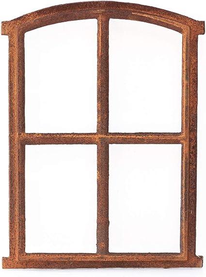 Eisenfenster Sprossenfenster Eichenblatt Stallfenster aus Gusseisen wie Antik Antikas