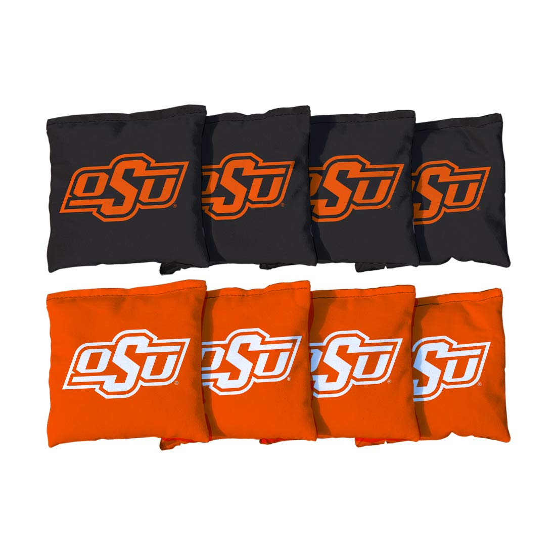 Victory Tailgate NCAA Collegiate Regulation Cornhole Game Bag Set (8 Bags Included, Corn-Filled) - Oklahoma State University Cowboys by Victory Tailgate