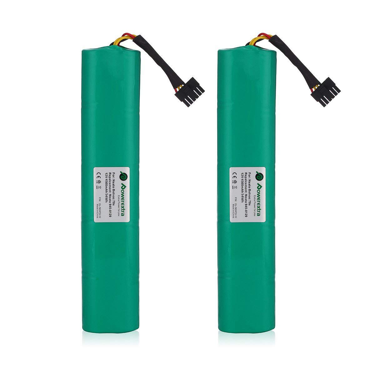Powerextra 2 Pack 12V 4500mAh Ni-Mh Replacement Battery Compatible with Neato Botavc Series and Botvac D Series Neato Botvac 70e, 75, 80, 85, D75, D80, Botvac D85 by Powerextra