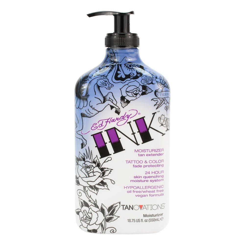 Ink By Ed Hardy Tattoo & Color Fade Moisturizer Tan Extender 18.75 Ounce