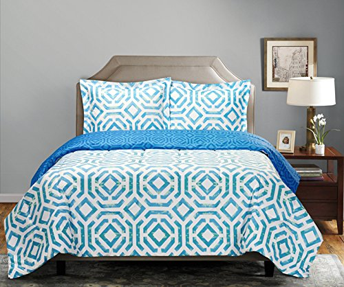 South Bay Apokas Comforter Set, King, Teal
