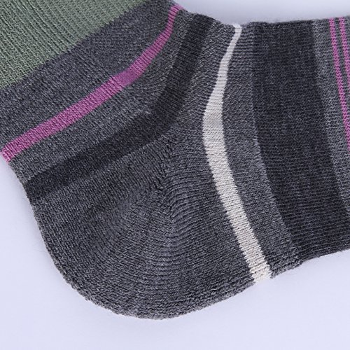 Enerwear 4 Pack Women's Merino Wool Outdoor Hiking Trail Crew Sock (US Shoe Size 4-10½, Violet/Gray/Multi) by Enerwear (Image #6)