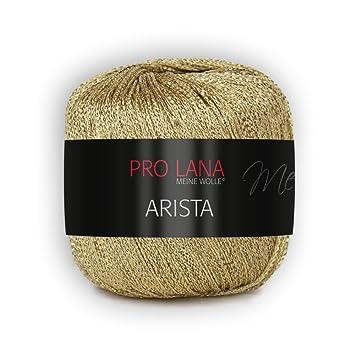 25g Arista von Pro Lana - Farbe 300 gold - metalliesiertes Lurexgarn