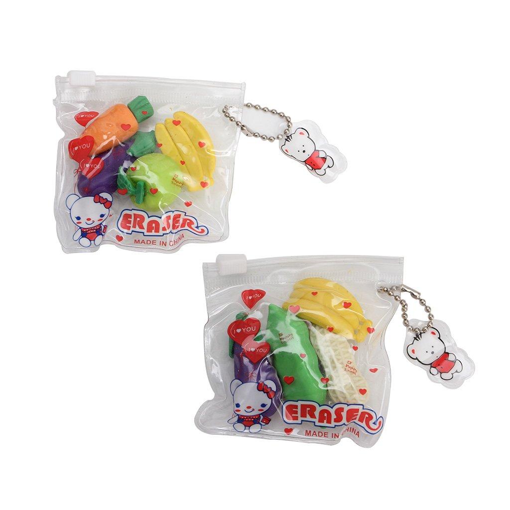 giocattolo da ufficio Gomme in gomma per acconciare frutta e verdura creative Manyo 1SAC cancelleria per bambini colore casuale studenti